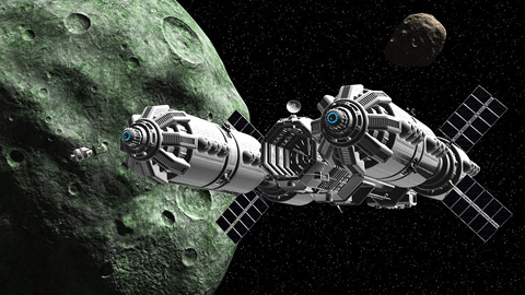 Asteroid Mining Station - Pics about space